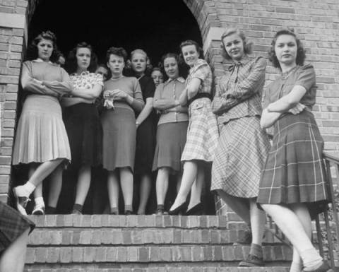 Kappa Kappa Gamma sorority at University of Kansas, Lawrence by Alfred Eisenstaedt - 1939