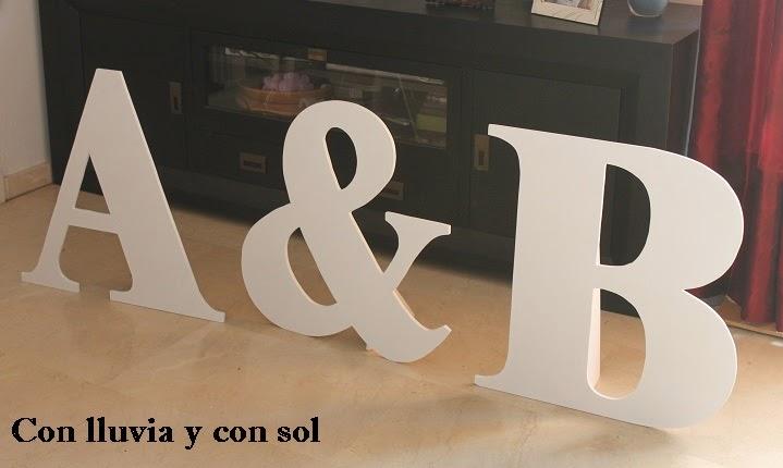 Letras para de boda letras para novios iniciales para for Letras gigantes para bodas baratas