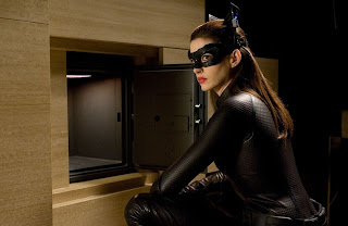 Anne Hathway as Selina Kyle aka Catwoman at Work, the dark knight rises, Directed by Christopher Nolan