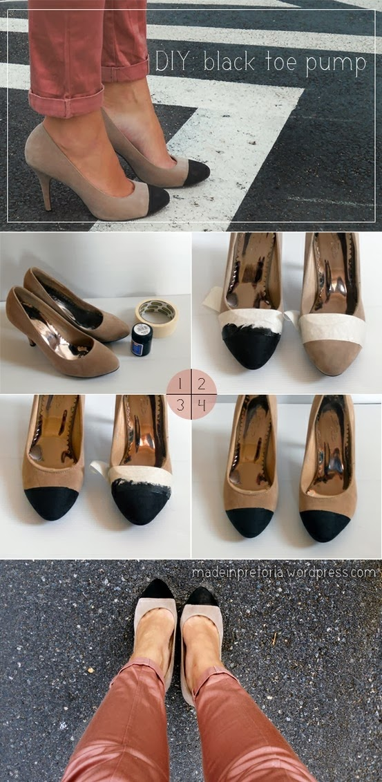 Diy Black Toe Pump