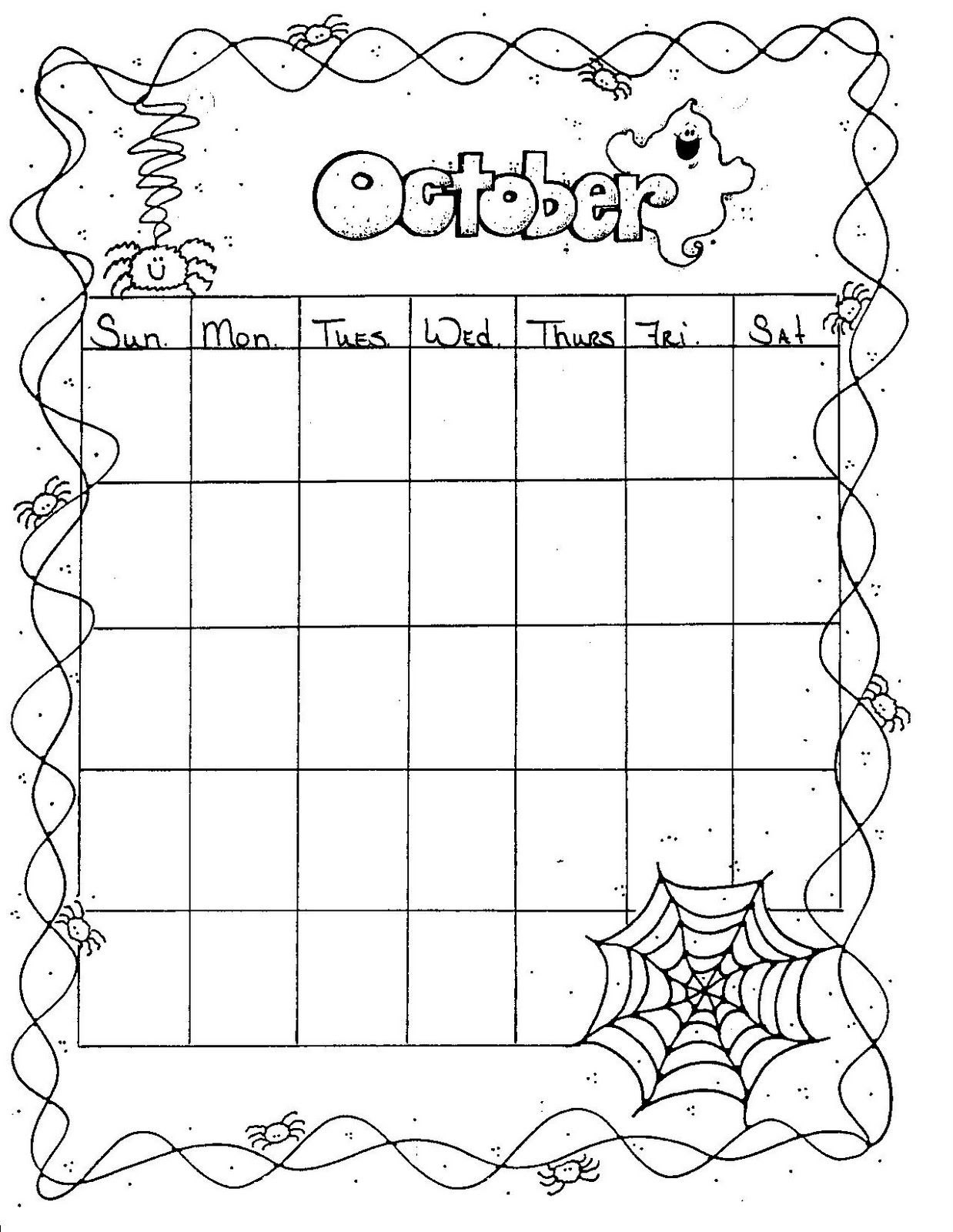 Weekly Calendar Blank Page : Connie s file cabinet monthly blank calendar pages for a year