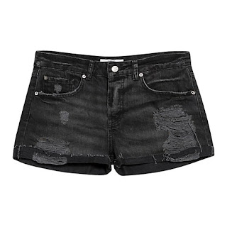 Mango Cotton RIpped Shorts