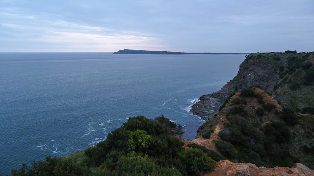 view of phillip island at dusk