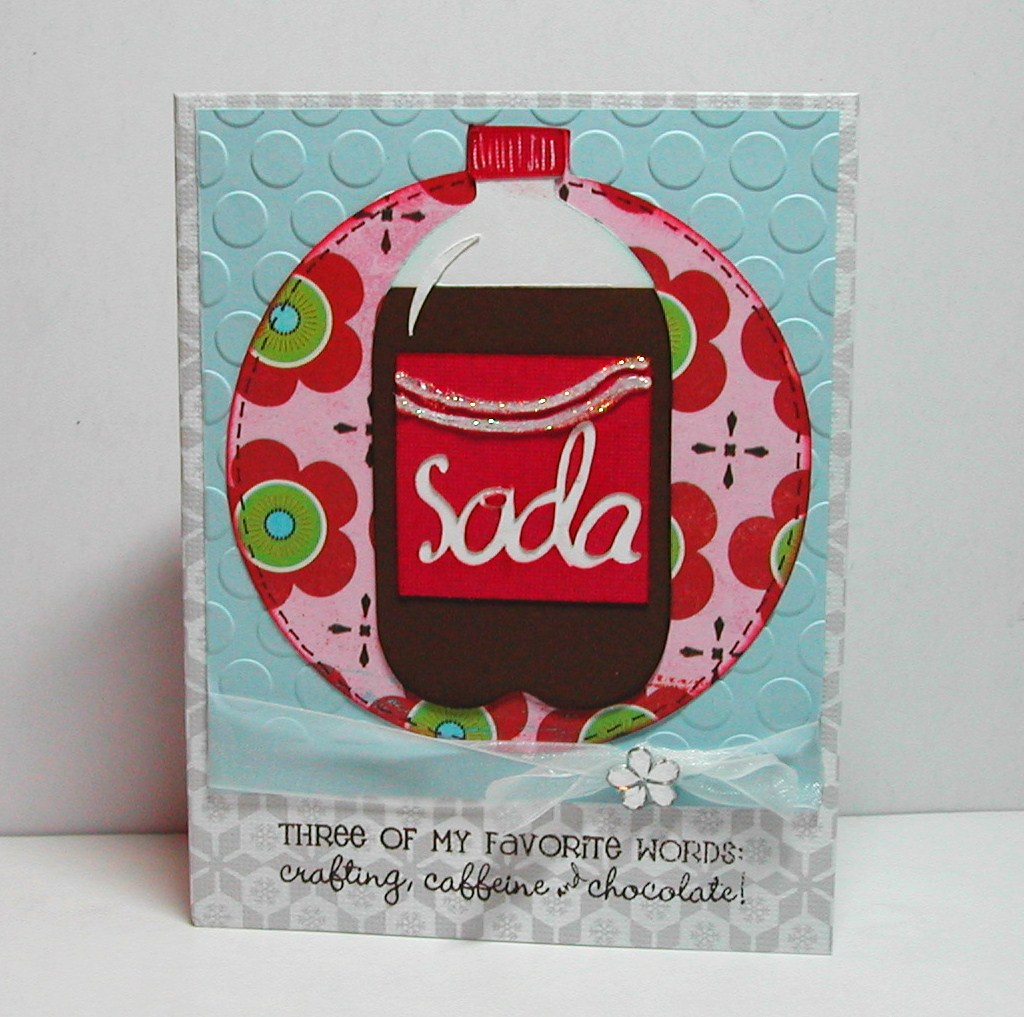 Doxie Mel Designs: I love Soda Card