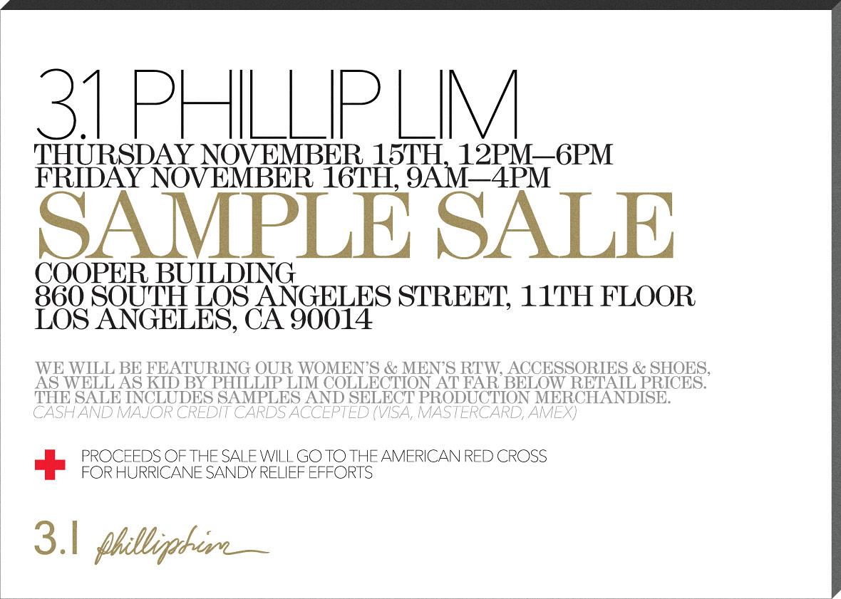 LA Holiday Sample Sales-3.1 Phillip Lim, A.L.C., and More! | Good ...