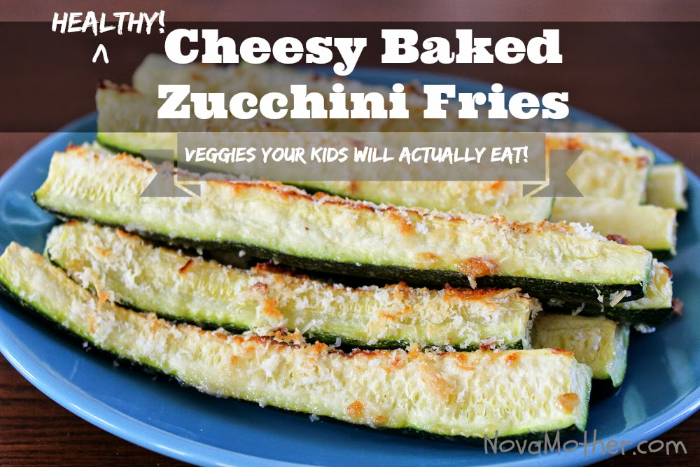 Healthy Cheesy Baked Zucchini Fries