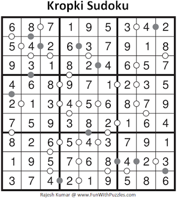 Kropki Sudoku (Fun With Sudoku #99) Solution