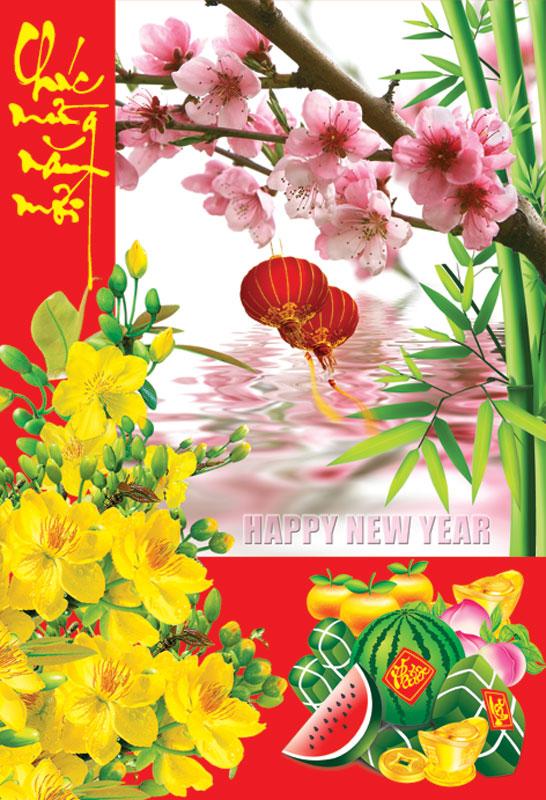 Thiệp chúc mừng năm mới đẹp và độc đáo - Hình ảnh 14