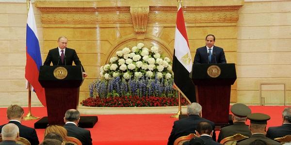السيسى وبوتين يتفقان على تعزيز التعاون بين مصر وروسيا