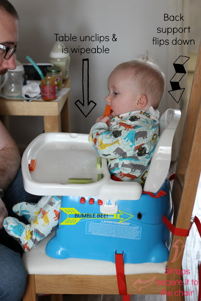 How the high chair all fits together