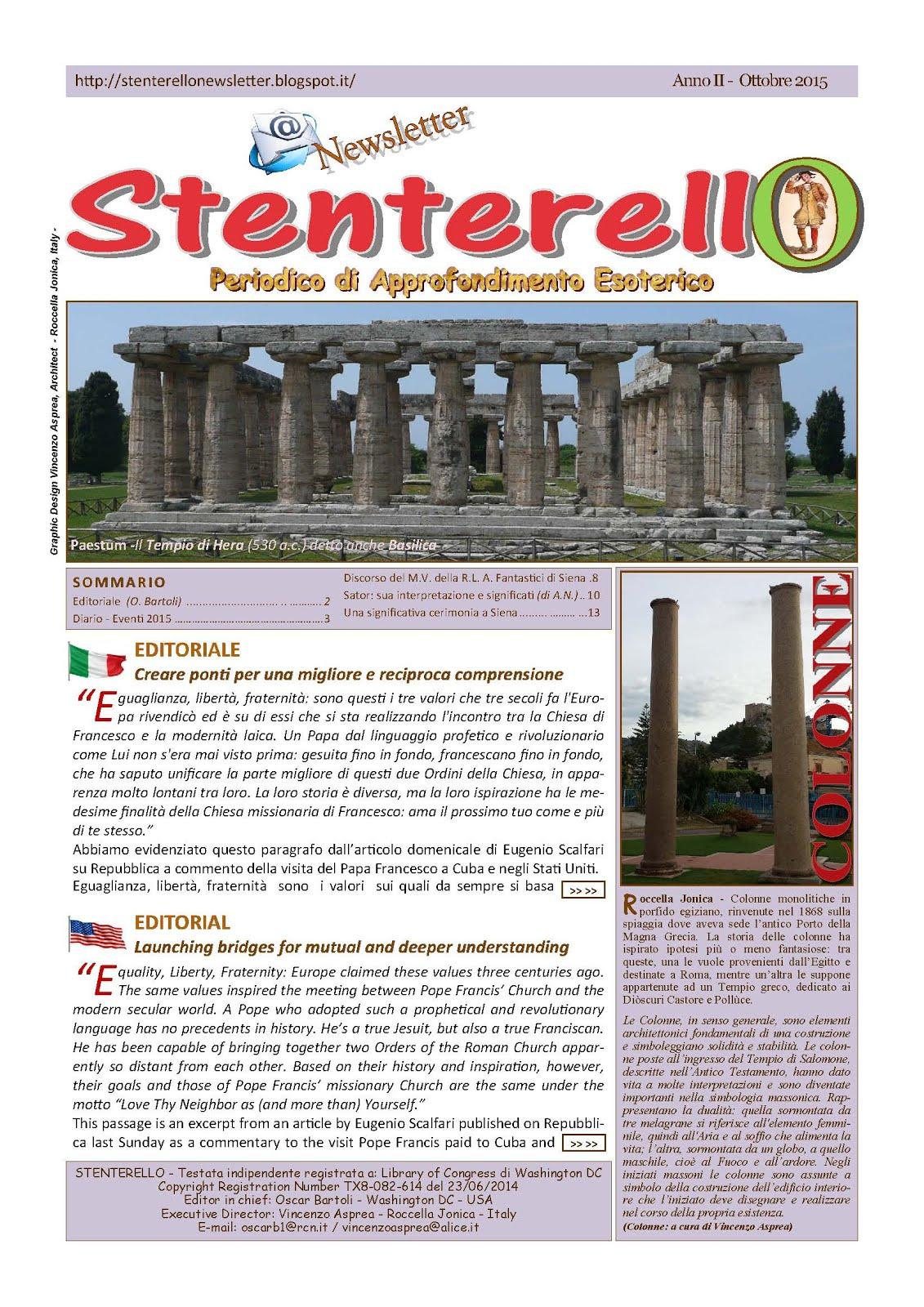 Stenterello Anno II - Ottobre 2015