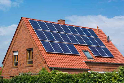 Solar pv on domestic roof