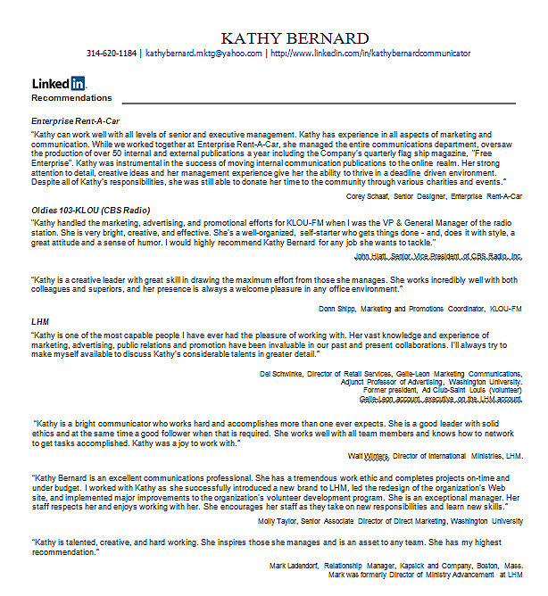 resume cover letter linkedin profile
