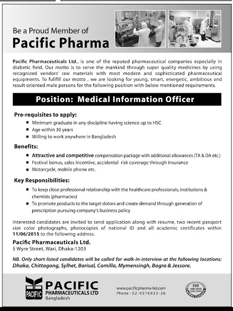 Organization: Pacific Pharmaceuticals Ltd, Post: Medical Information Officer
