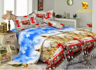 Sprei Kintakun 3D London Bus
