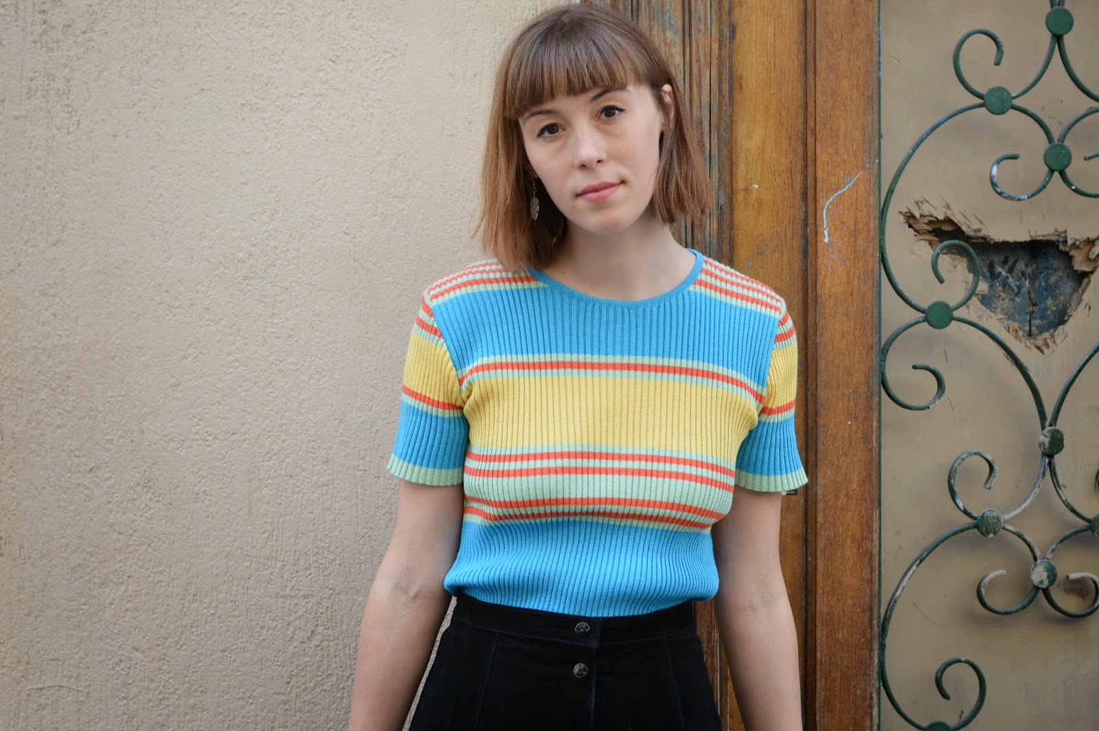 Vintage retro stripy summer jumper