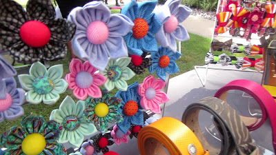 Homemade Fabric Flower Dog Collars