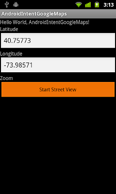 使用意圖(Intent)啟動 Android 內建谷歌地圖的街景(StreetView)