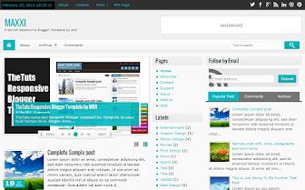 Maxxi Premium Responsive Blogger Template