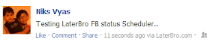 How to schedule facebook Status update in Advance