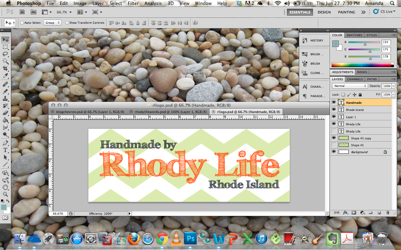 Friday Photoshop Blogging Other Pebble >> Rhody Life Diy Marketing Logos And Labels
