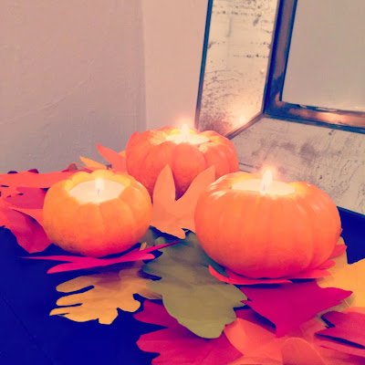 fall autumn pumpkin candles