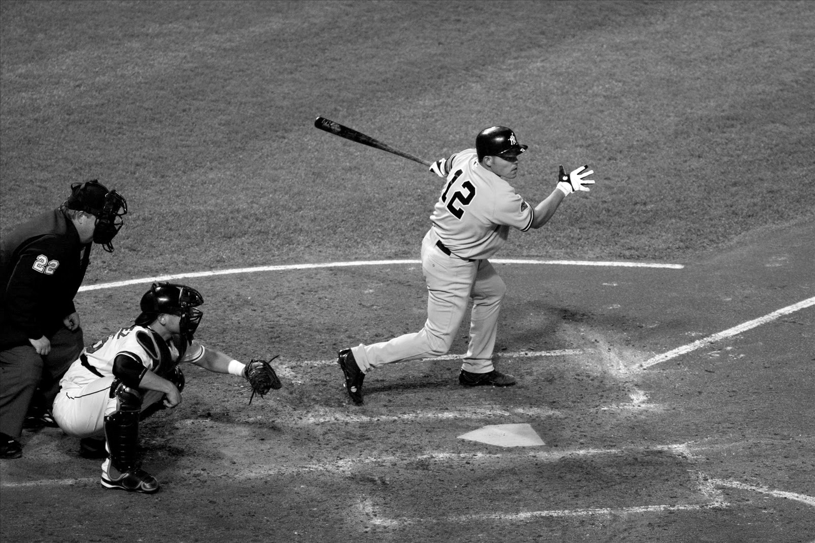 Hitting Baseball black and white HD photos