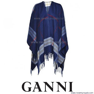 Princess Mary Style Ganni Woollen Scarves Poncho