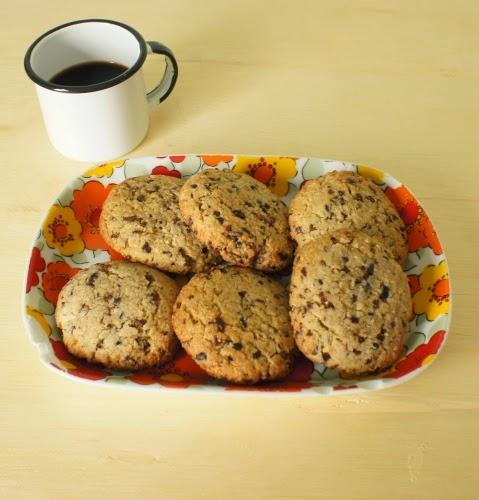 bolachas de améndoa, coco e sementes de cacau (sem lactose)