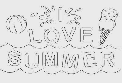summer coloring sheets free coloring sheet - Summer Colouring Pictures