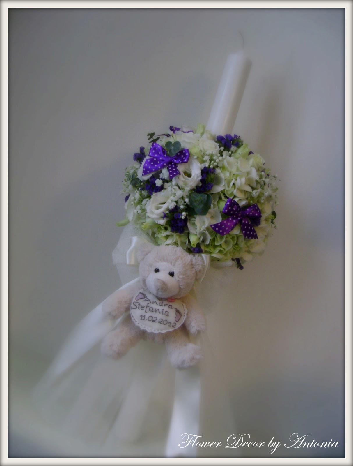 flower decor mini lumanare botez andra stefania hortensie limonium eustoma si eucalipt. Black Bedroom Furniture Sets. Home Design Ideas