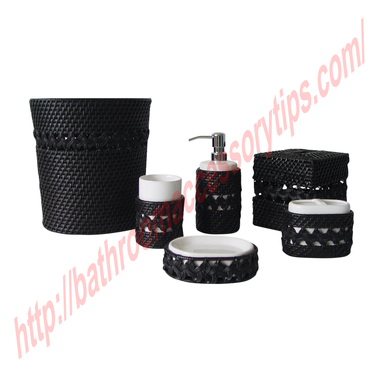 Adorning your bathroom with black bathroom accessories for Toilet accessories
