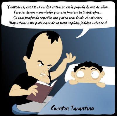 Vieñeta de humor de Eduard Fortuny Humor tonto para gente inteligente - Cuentin Tarantino