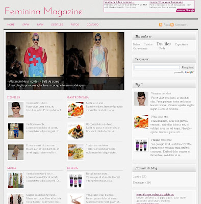 woman magazine blogger theme