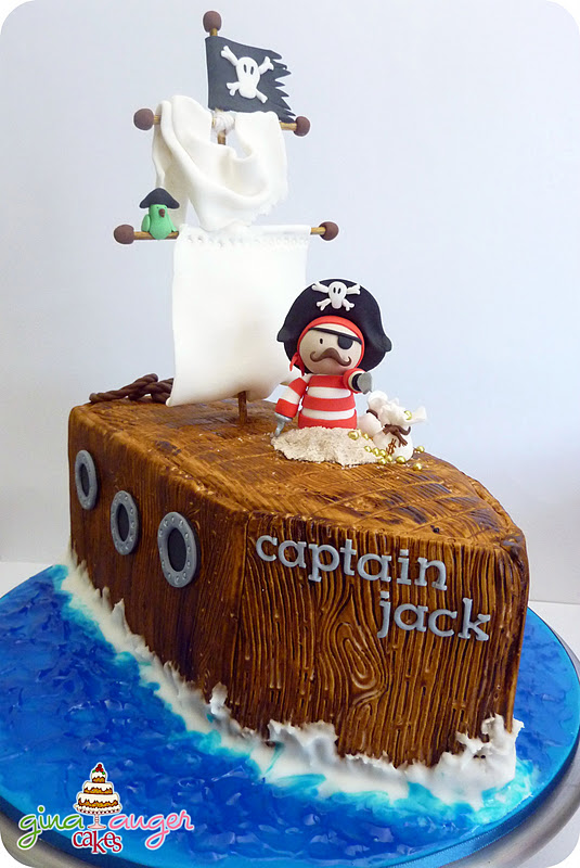 Top That Pirate Ship Birthday Cake Captain Jack