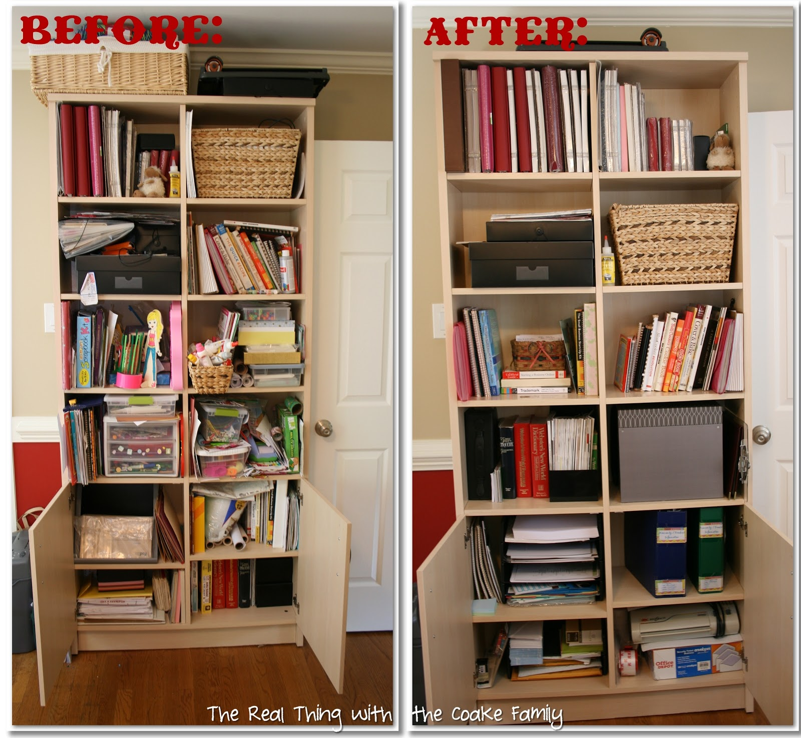 Organizing ideas crafts office the real thing with Home office organization ideas