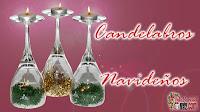 candelabro navideño