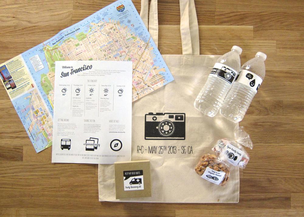 Wedding Gift Bags San Francisco : coreyegan: DIY Wedding: Welcome Bags