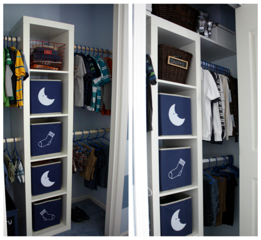 IHeart Organizing: Boy's Bedroom Closet Update: Don't