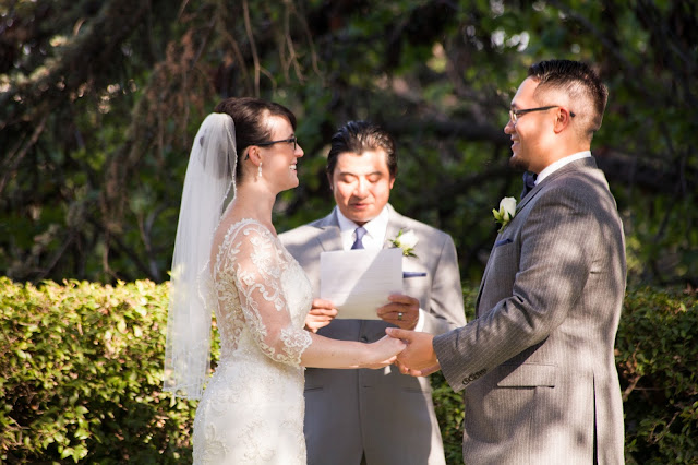 Our wedding ceremony at the Kellogg House at Cal Poly Pomona was the perfect backyard wedding under the shade of some giant trees! The Kellogg House was the perfect Southern California wedding venue!