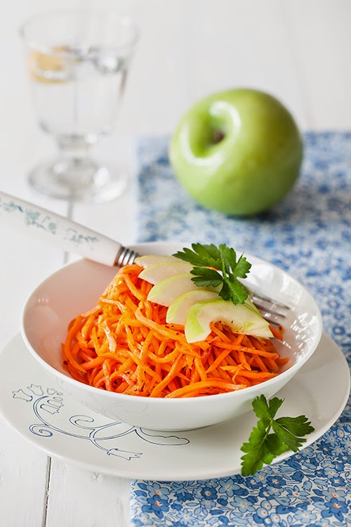 Carrot & Green Apple Salad with Lime Vinaigrette at ...