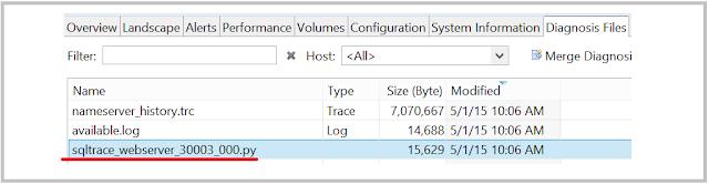 SAP HANA SQL trace file