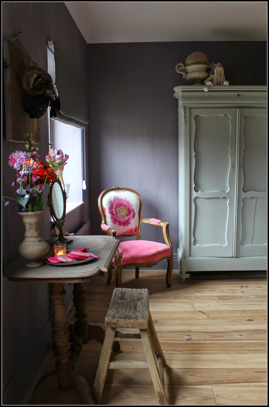 Het moonhuis fotoalbum - Warme kleuren kamer ...