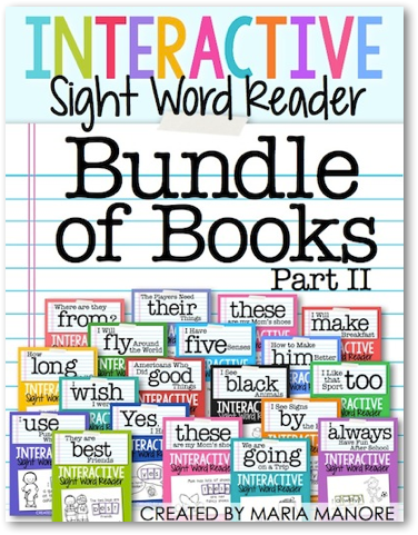 Interactive Sight Word Readers Bundle of Books, Part 2
