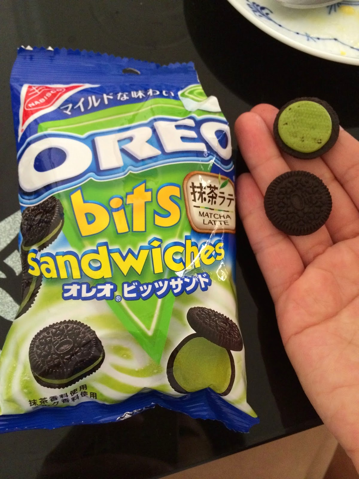 japanese matcha snack sweets japan oreo bits sandwiches latte