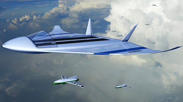 Futuristic Flying Airports, ACARE, Air Cruisers, very large flight vehicles, perhaps carrying over 3000 passengers and for these eventually to be nuclear powered
