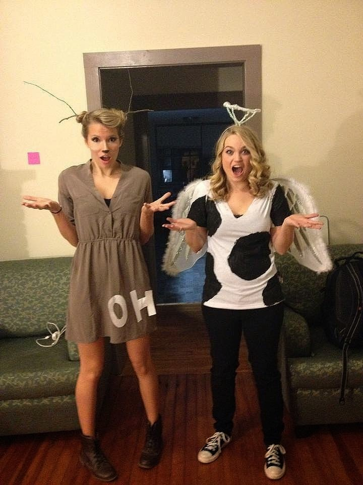 Oh Deer and Holy Cow Halloween Costumes