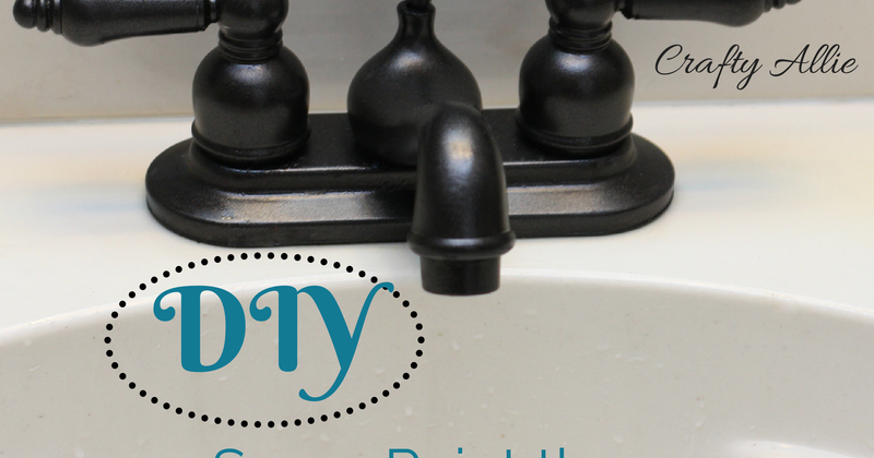 Crafty Allie DIY Spray Paint Your Bathroom Faucet - How to paint bathroom faucets