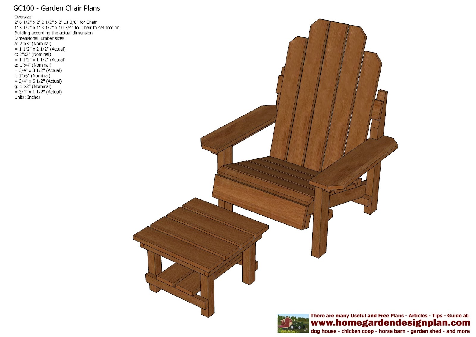 Home Garden Plans Gc100 Garden Chair Plans Out Door