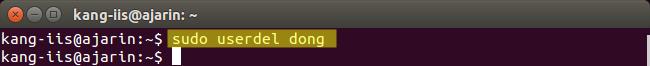 Perintah Linux - Fungsi userdel